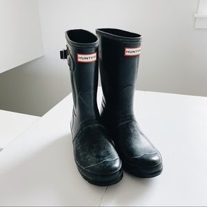 Black Hunter Short rain boot size 8